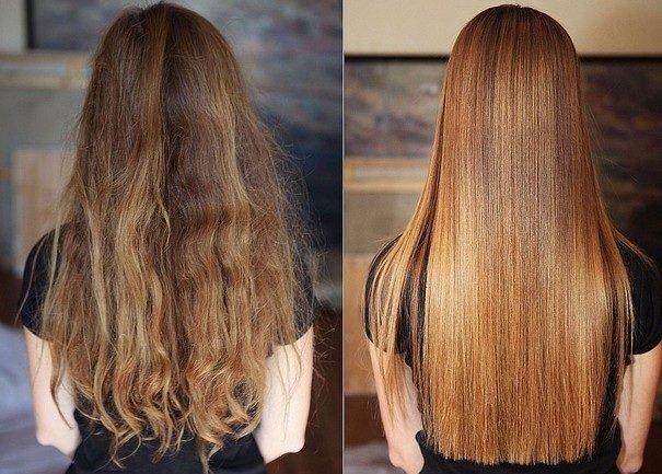 До и после выпрямления