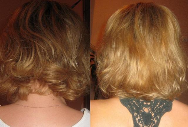 До и после использования масок