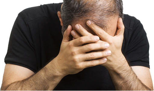 Стресс может быть причиной выпадения волос