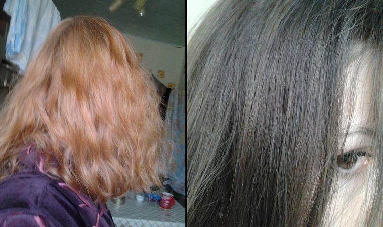 Эффект до и после Colorianne Remove Color System