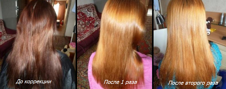 Эффект от смывки Hair Light Remake Color