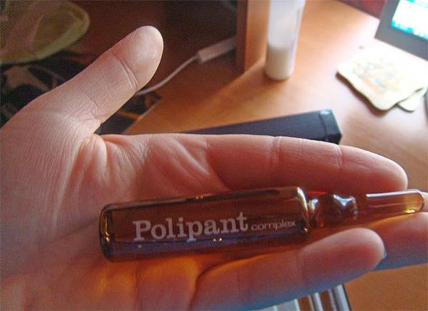 Так выглядят ампулы препарата Polipant Complex