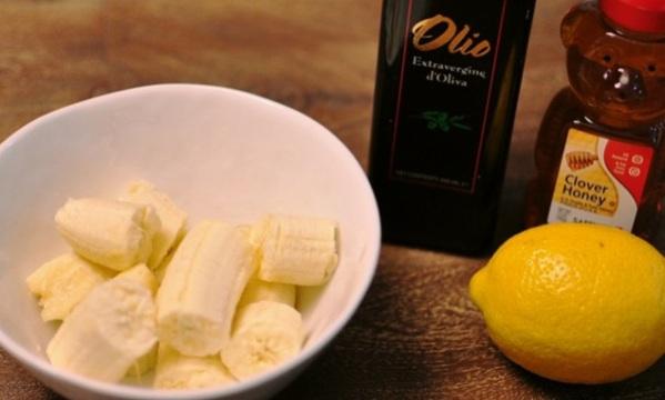 Ингредиенты маски из бананов, масла и лимона