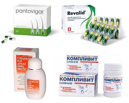 Рекомендуемые витаминные комплексы против выпадения волос