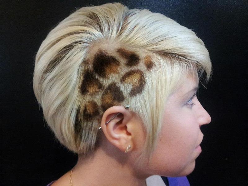 рисунки на волосах: