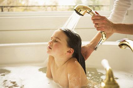 Мытье головы и легкий массаж