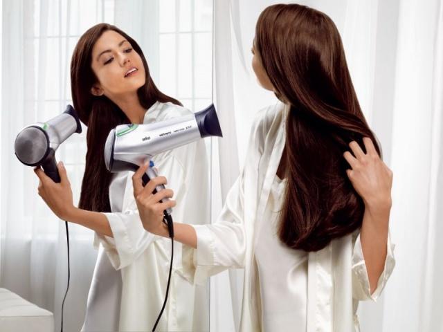 Длинный волос лучше не сушить феном