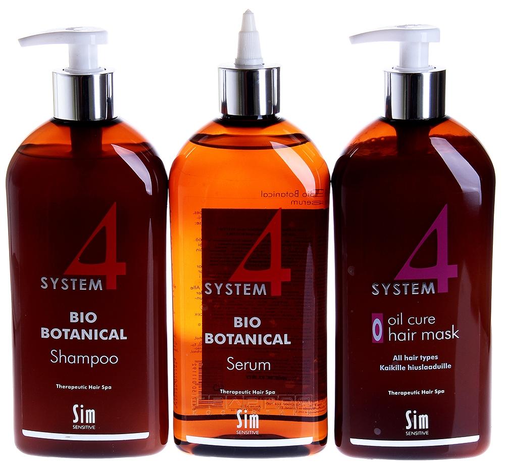 При сильном выпадении волос комплекс системы необходимо использовать в строгой последовательности