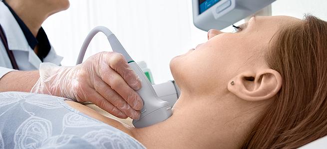 Эндокринолог может назначить УЗИ щитовидной железы