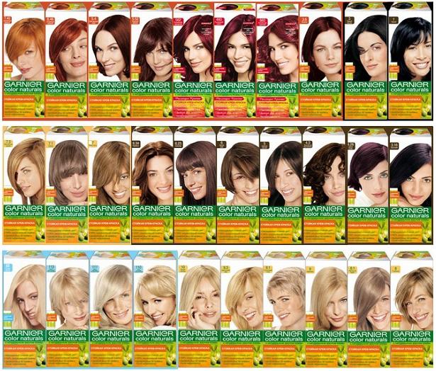 Гарньер краски для волос каталог