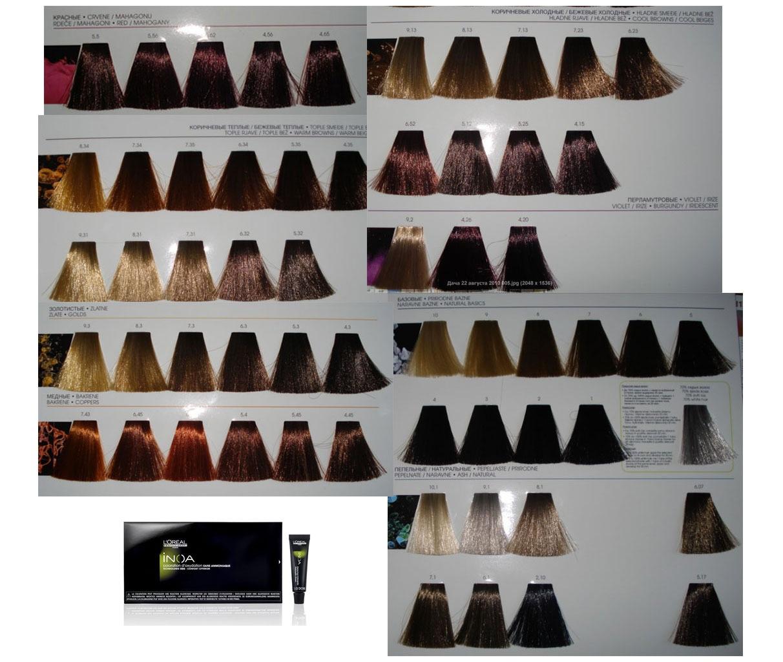 Краска для волос иноа палитра