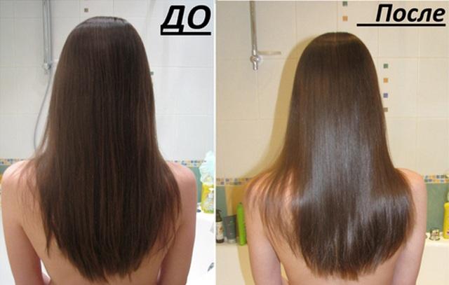 что такое ламинирование волос фото до и