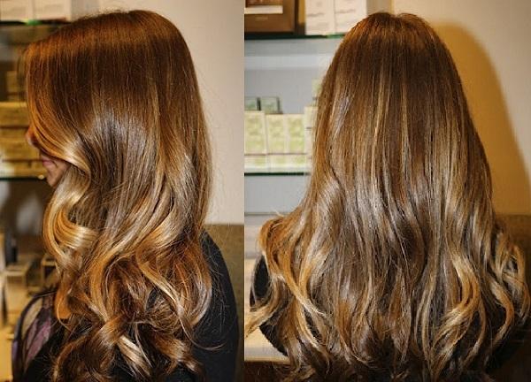 Как проводится брондирование на тёмные волосы