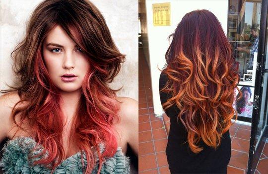 Брондирование рыжих волос