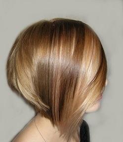 Брондирование коротких волос