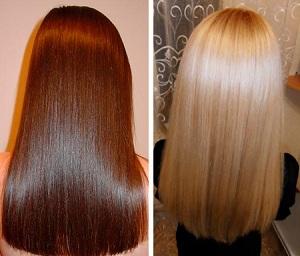Процедура сочетает в себе пользу биоламинирования и окрашивание волос