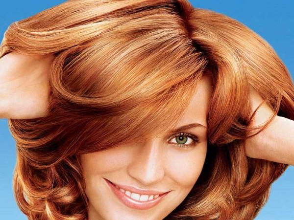 Окрашенные луком волосы