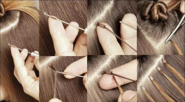 Вариант наращивания волос
