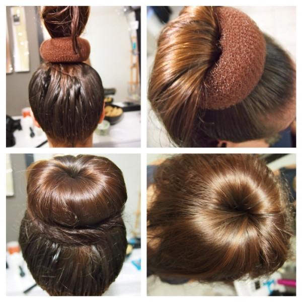 Как сделать причёски с бубликом на длинные волосы