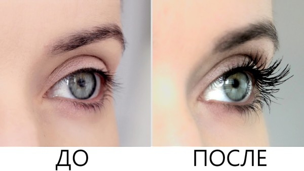До и после использования Применение «Platinus Lashes»